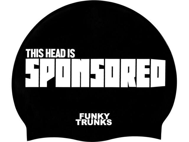 Funky Trunks Silicone Swimming Cap Badehætte Herrer hvid/sort